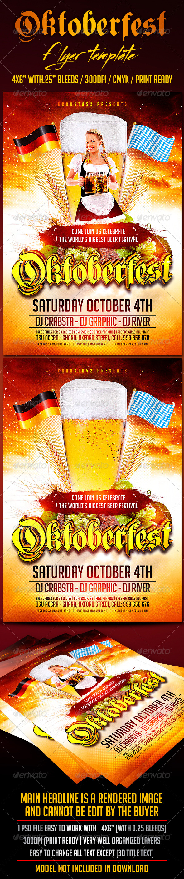 GraphicRiver Oktoberfest flyer Template 8687356