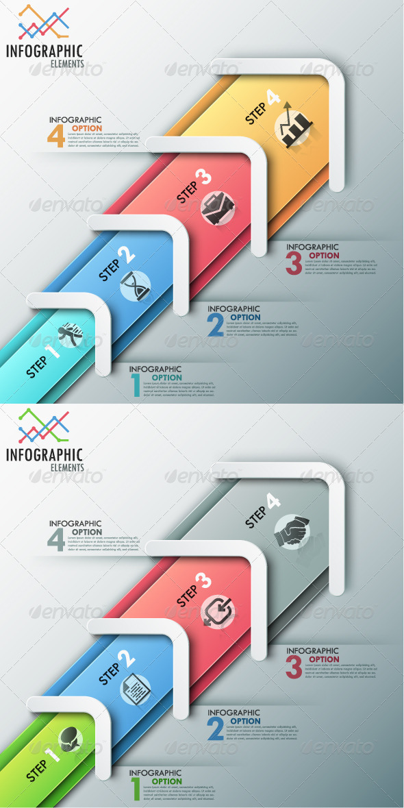 GraphicRiver Modern Infographic Process Template 2 Colors 8687997
