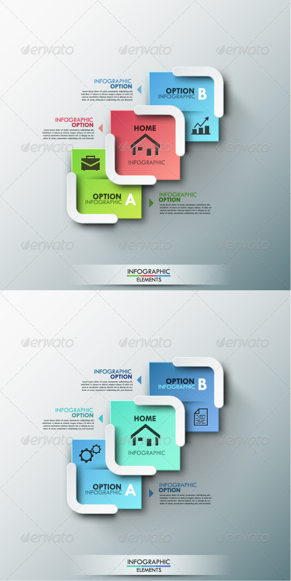 GraphicRiver Modern Infographic Options Banner 2 Colors 8688007