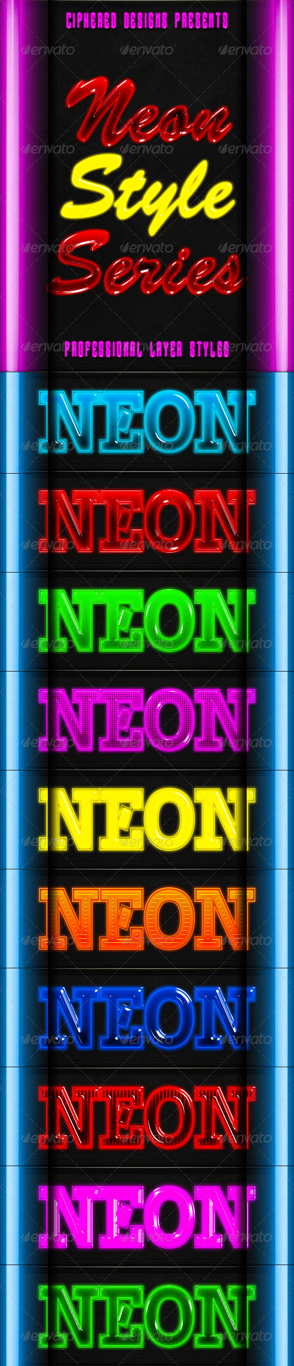 GraphicRiver Neon Style Series Pro Text Effects 8688253