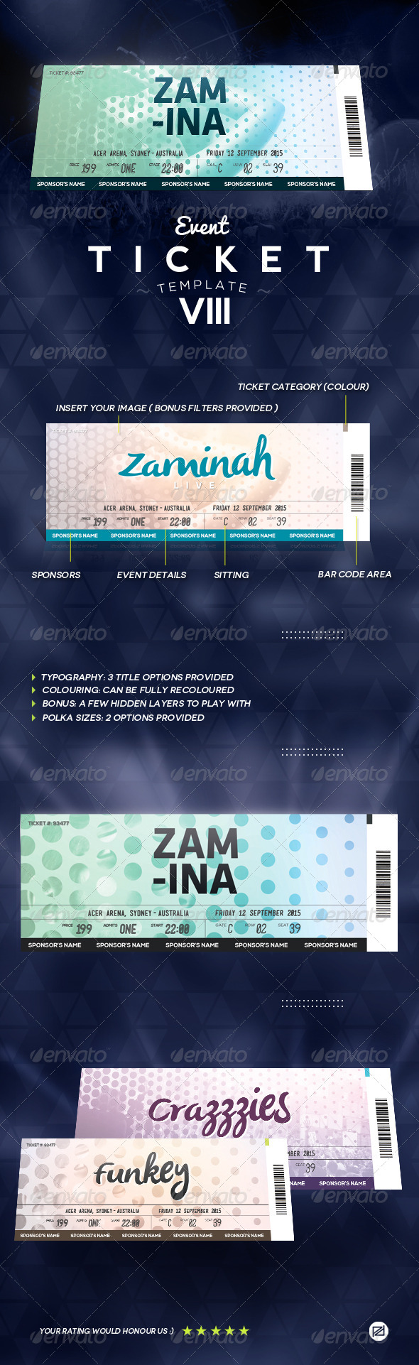 GraphicRiver Event Ticket Template 8 8688365