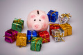 Pig money box between christmas gift - PhotoDune Item for Sale
