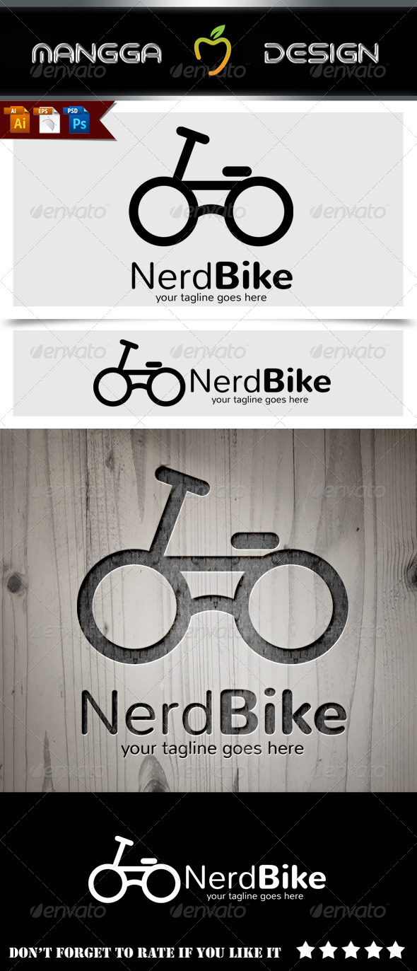 GraphicRiver Nerd Bike Logo 8688494
