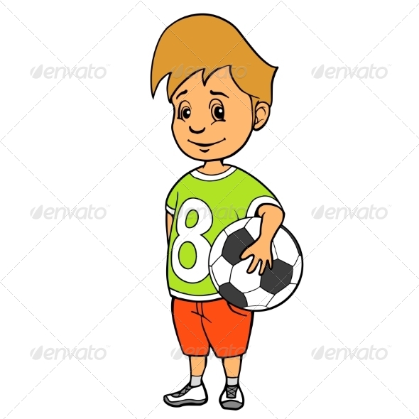 GraphicRiver Boy with Soccer Ball 8688589