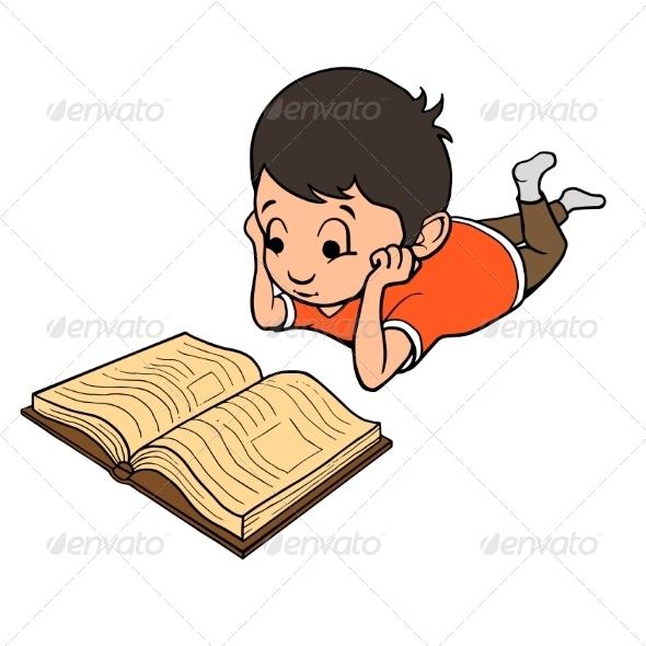 GraphicRiver Boy Reading a Book 8688591