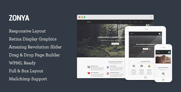 ThemeForest Zonya Multipurpose Responsive WordPress Theme 8659216