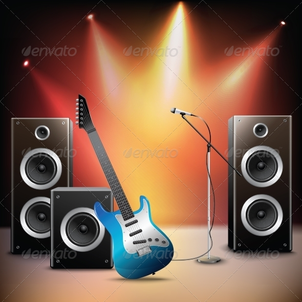GraphicRiver Music Stage Background 8688892