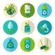 Ecology and Waste Flat Icons Set - GraphicRiver Item for Sale