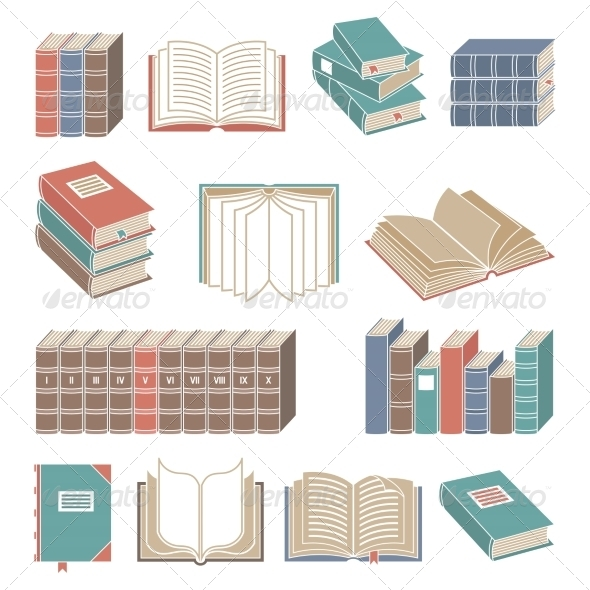 GraphicRiver Book Icons Set Color 8688911