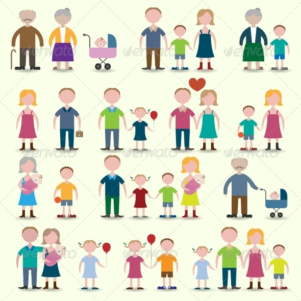 GraphicRiver Family Icons Set 8688919