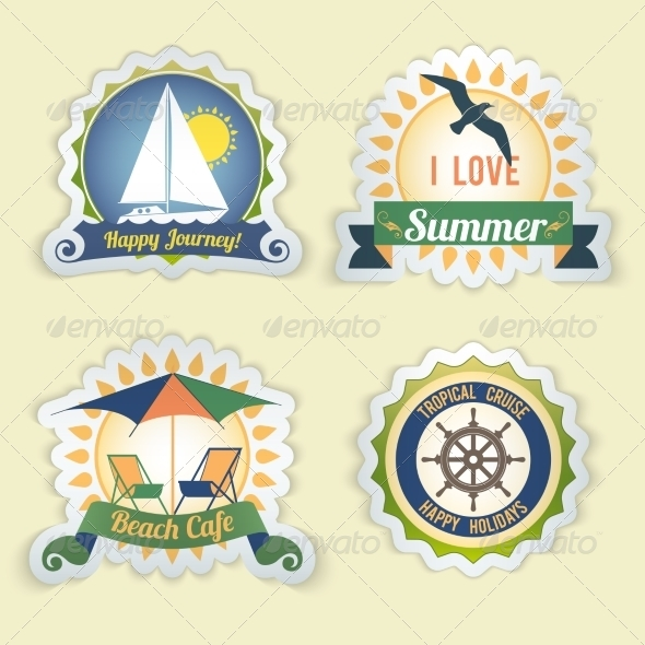 GraphicRiver Summer Sea Emblems 8688922