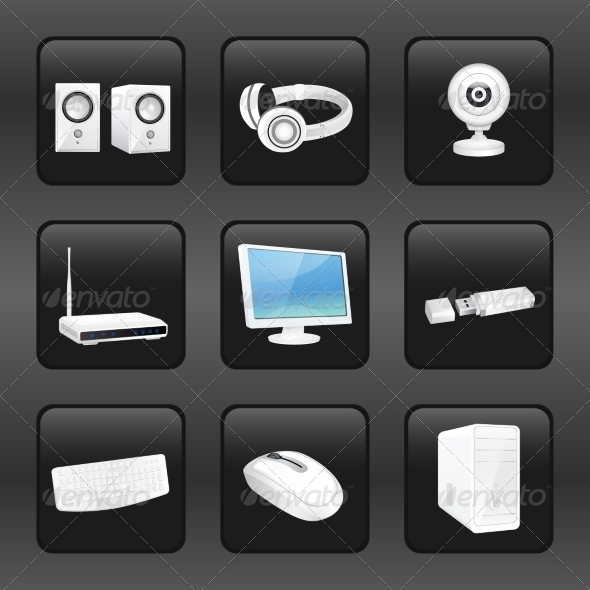 GraphicRiver Computer and Accessories Icons 8688926
