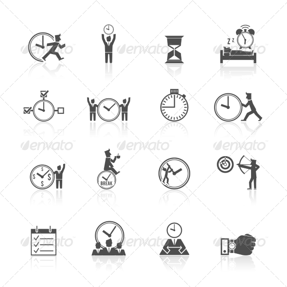 GraphicRiver Time Management Icons Set 8688929