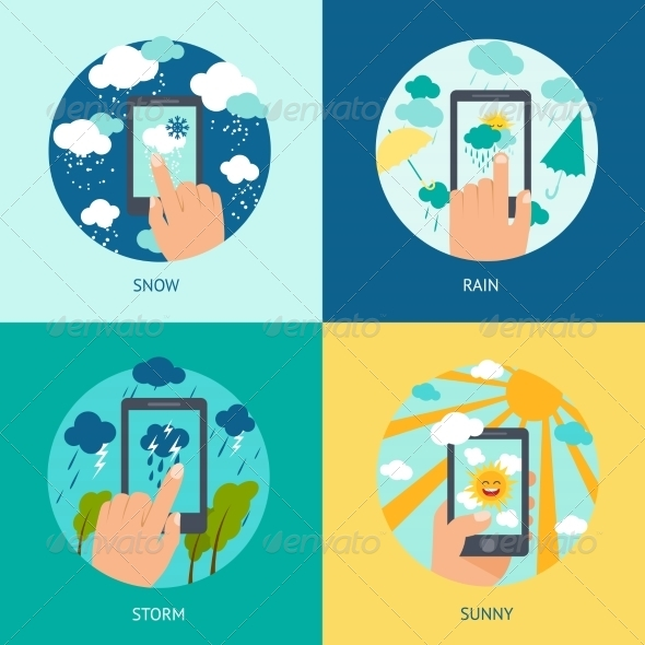 GraphicRiver Weather Smart Phone Set 8688934