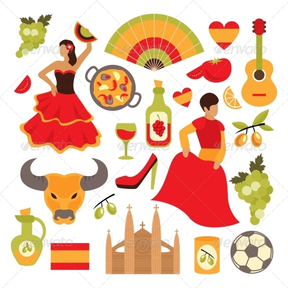GraphicRiver Spain Icons Set 8688939