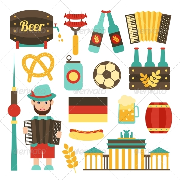 GraphicRiver Germany Travel Set 8688945