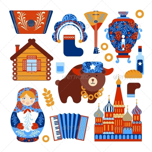 GraphicRiver Russia Travel Set 8688947
