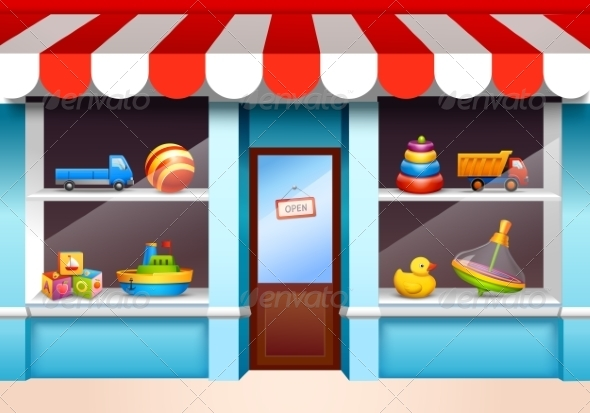 GraphicRiver Toys Shop Window 8688959