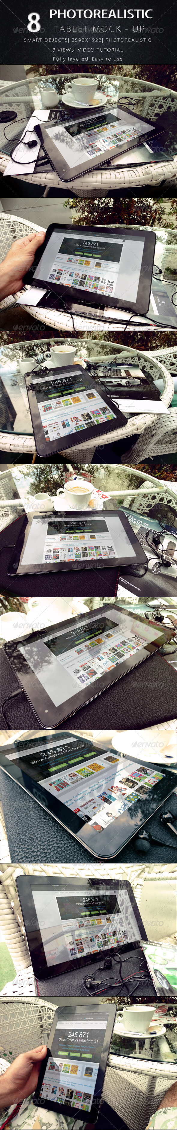 GraphicRiver Photorealistic Tablet Mock Up V.2 8688963