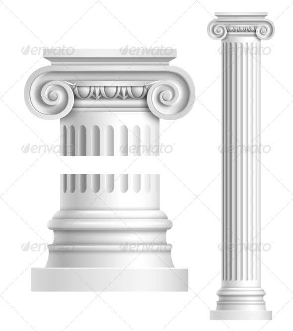 GraphicRiver Realistic White Antique Column 8688965