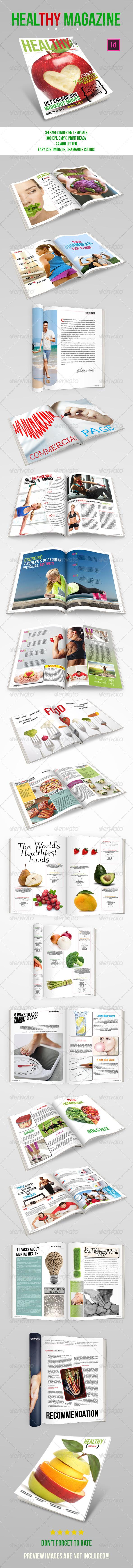 GraphicRiver Healthy Magazine Template 8659913