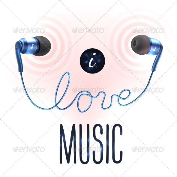 GraphicRiver Headphones with Love Letters 8688998