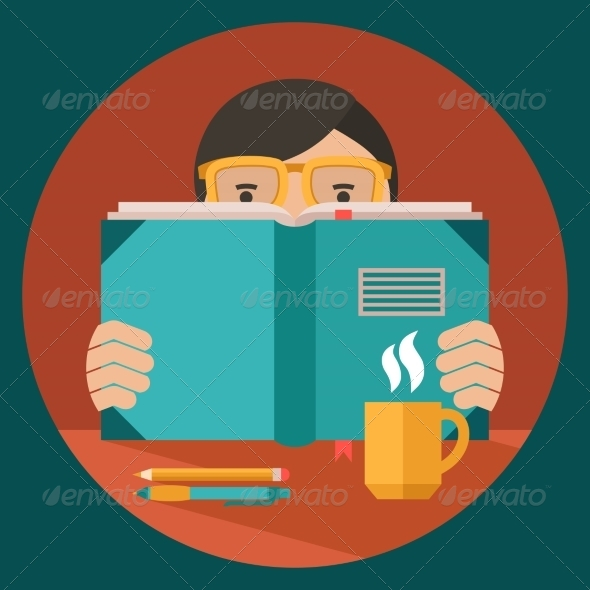 GraphicRiver Man Reading Book 8689007