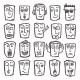 Sketch Emoticons Set - GraphicRiver Item for Sale