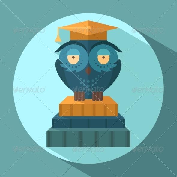 GraphicRiver Owls in Graduation Cap 8689012