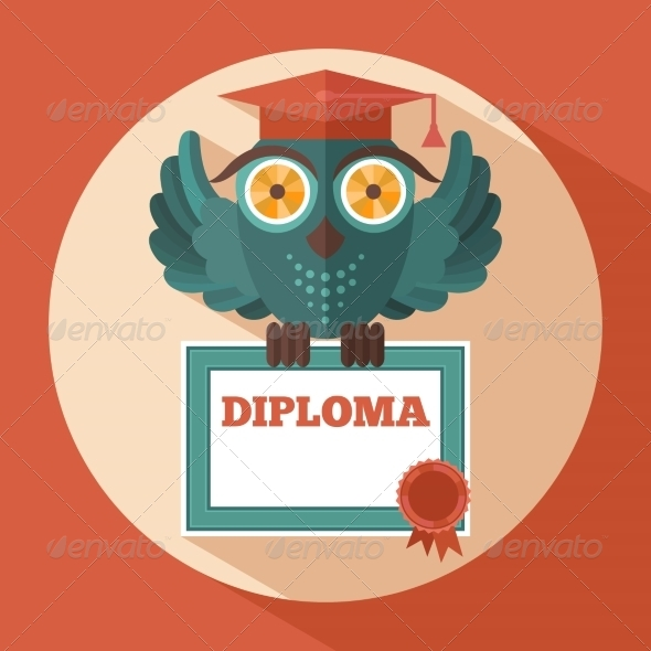GraphicRiver Owl in Graduation Cap 8689014