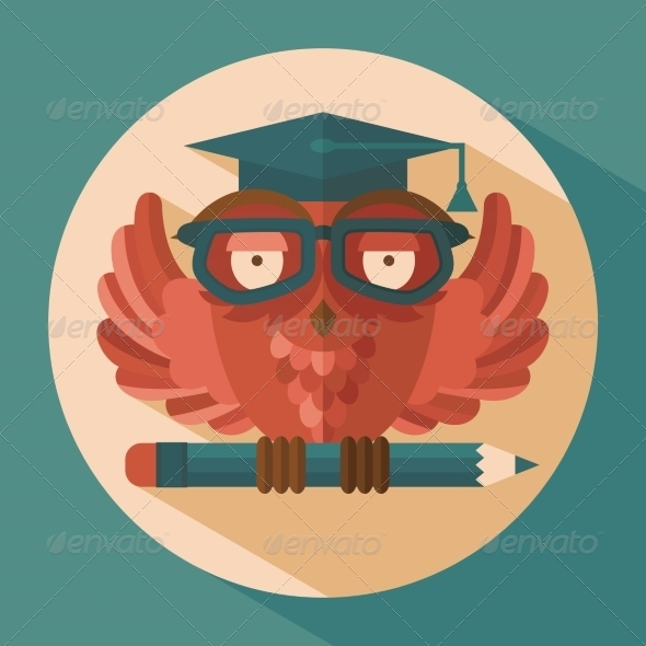 GraphicRiver Owl in Graduation Cap 8689015