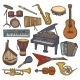Musical Instruments Sketch Icon - GraphicRiver Item for Sale