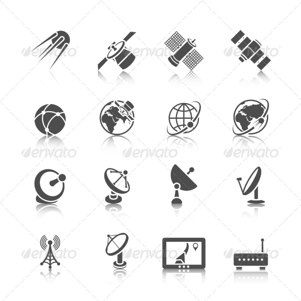 GraphicRiver Satellite Icons Set 8689029