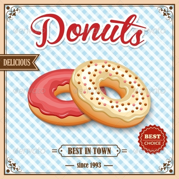 GraphicRiver Donut Retro Poster 8689036