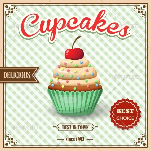 GraphicRiver Cupcake Cafe Poster 8689047