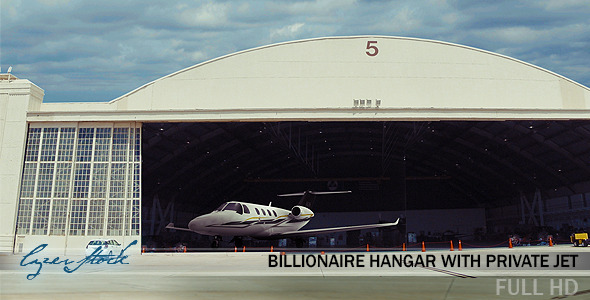 Billionaire Hangar with Private Jet