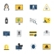 Hacker Icons Flat - GraphicRiver Item for Sale