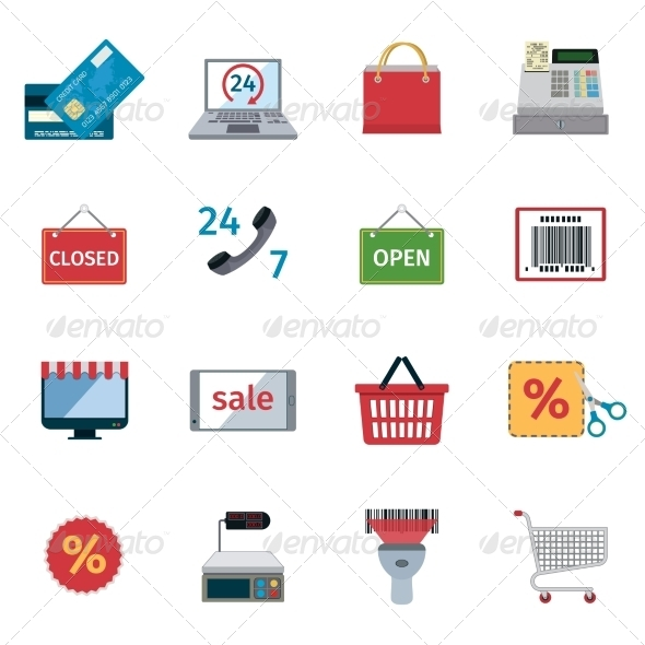 GraphicRiver E-commerce Icons Set 8689063