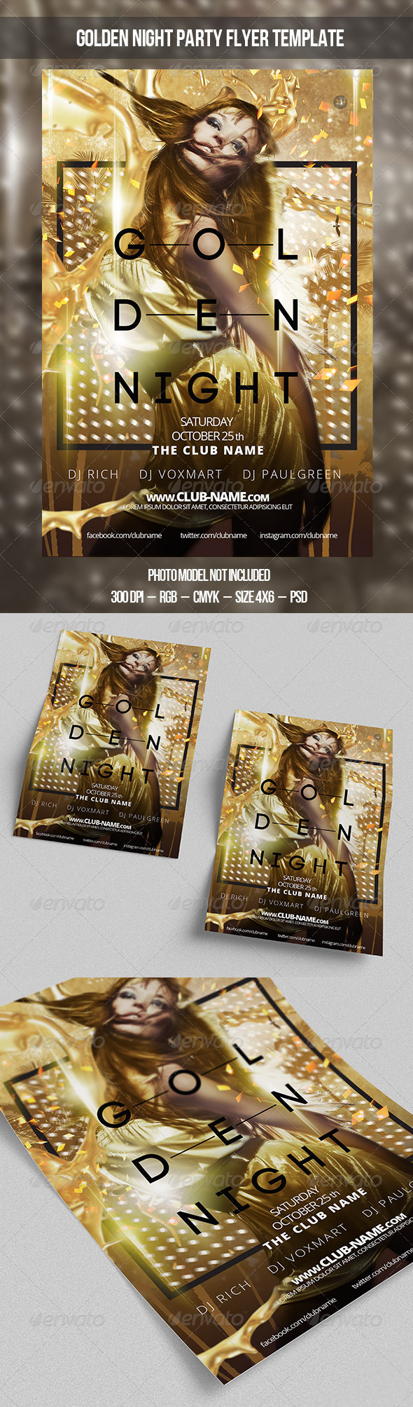 GraphicRiver Golden Night Flyer Template 8689137