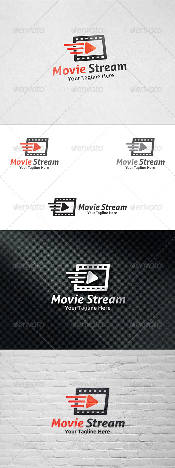 GraphicRiver Movie Streaming Logo Templae 8689258
