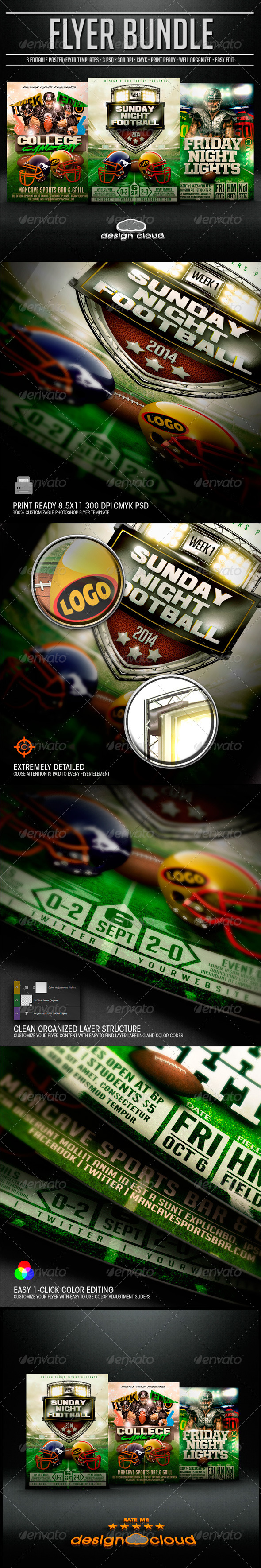 GraphicRiver Ultimate Football Flyer Template Bundle 2014 8689762