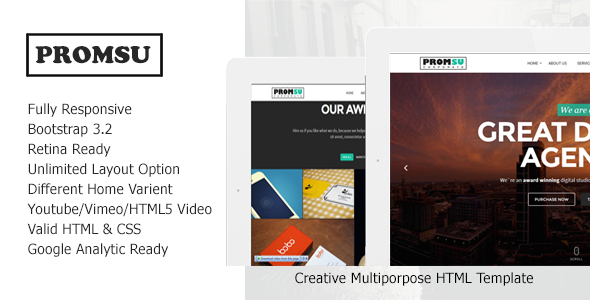 Promsu - Creative Multiporpose HTML5 Template