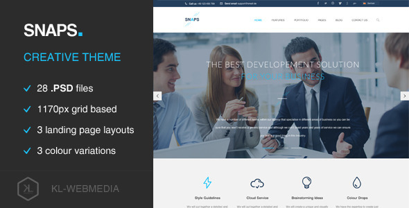 ThemeForest Snaps Creative PSD Template 8689775