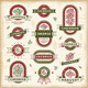 Vintage Cherry Labels Set - GraphicRiver Item for Sale