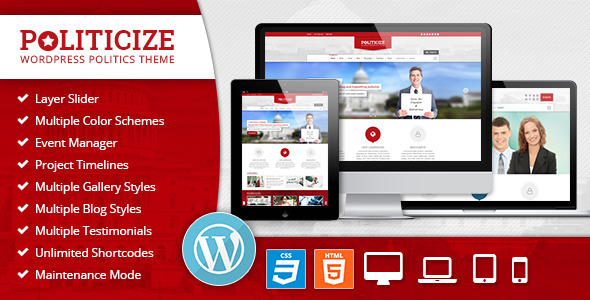ThemeForest Politicize Political Responsive WordPress Theme 8689963