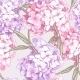 Pink Hydrangea Seamless Background - GraphicRiver Item for Sale