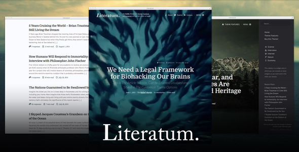 Literatum - Just Write - Blog / Magazine WordPress