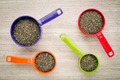 chia seeds in measuring cups - PhotoDune Item for Sale