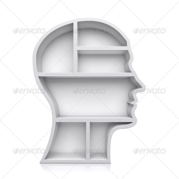 GraphicRiver Head Shape 3D Shelves 8693793