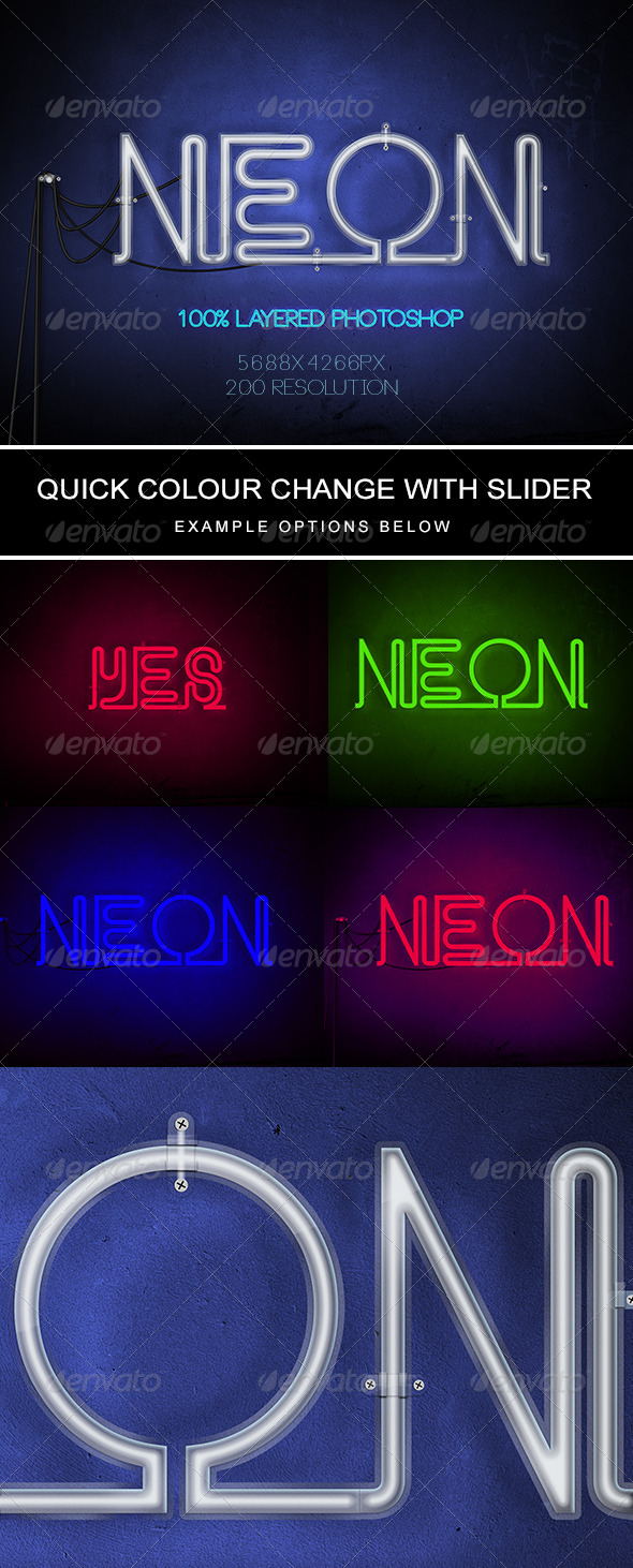 GraphicRiver Neon Text 8693889